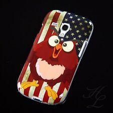 Samsung Galaxy S3 mini i8190 Silikon Case Schutz Hülle USA Flagge Eule Owl Etui