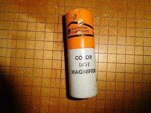 NOS Vintage Tube Era General Electric  electronic component Color Dot Magnifier