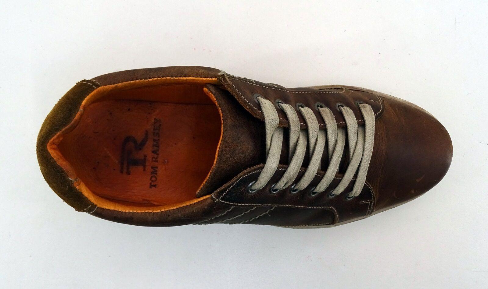 Sneaker Tom Ramsey Freizeit Schnürer Halbschuhe Echtleder braun Gr. 42