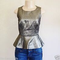 Guess Men's By Marciano Gold Lightweight Shimmer Sleeveless Blouse Sz 4