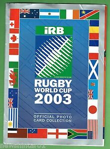 #DD. SUN HERALD 2003 RUGBY UNION WORLD CUP PHOTO CARD COLLECTION