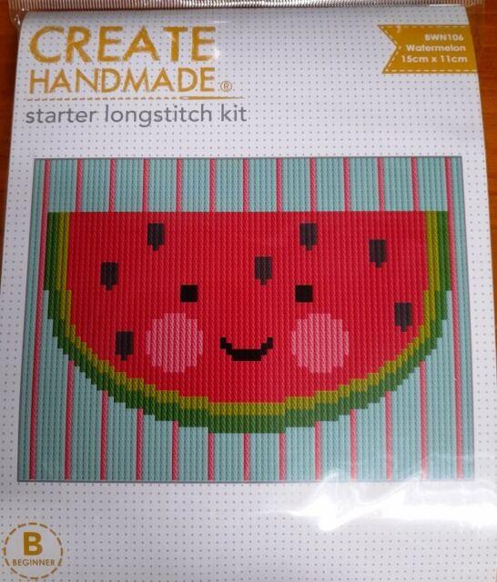 Watermelon long stitch craft kit Create Handmade suit kids or beginner stitchers