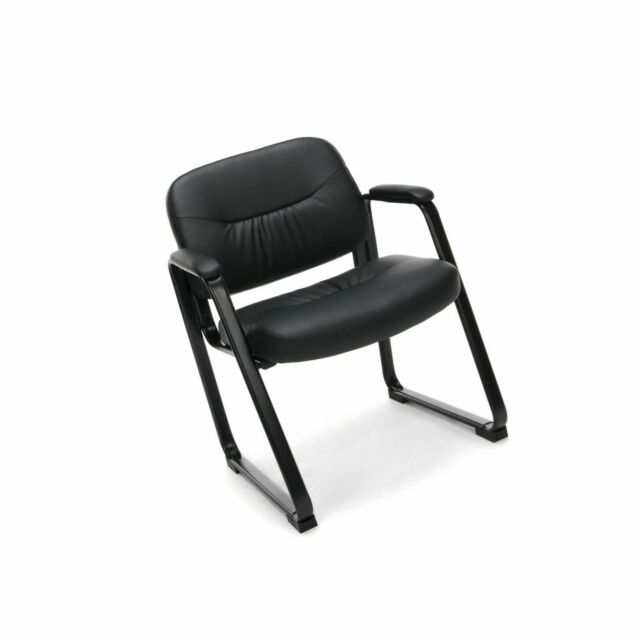 Peachy Ofm Ess 9015 Essentials Leather Executive Side Chair With Sled Base Black Pdpeps Interior Chair Design Pdpepsorg
