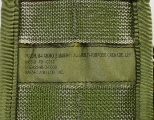 223 Triple Magazine Mag W Frag /& Multi Purpose Grenade Pouch Left Side 5.56