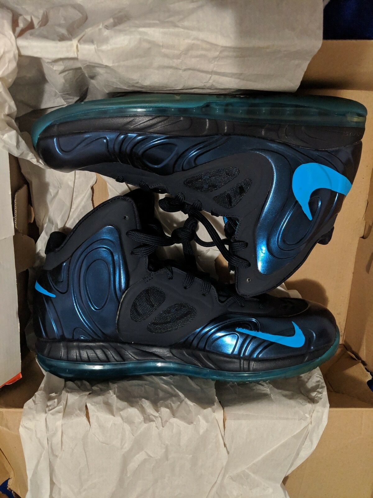 Nike air max hyperposite Dark Obsidian Dynamic bluee Deadstock NIB 2012