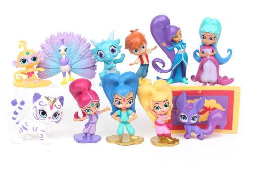 5cm Scintillant et Brillant Figurines Jouets Leah Zac Kaz Tala Nahal 12 Pièces