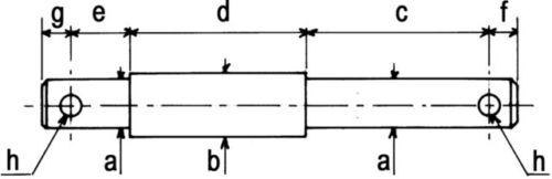 Sicherungsbolzen Stufenbolzen Oberlenker Bolzen Kat.1-2 Ø 19-25mm 31110630