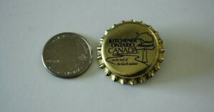 Kitchener Ontario Canada On The Trail Of Black Walnut Beer Cap Pin Pinback 29836