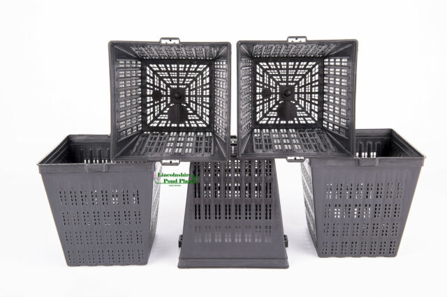 5 X 11cm new square plastic - aquatic pots baskets for water plants and ponds