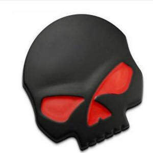 3D-Skull-Quality-Emblem-Sticker-Decal-Badge-Car-Motorcycle-Truck-Laptop-Black