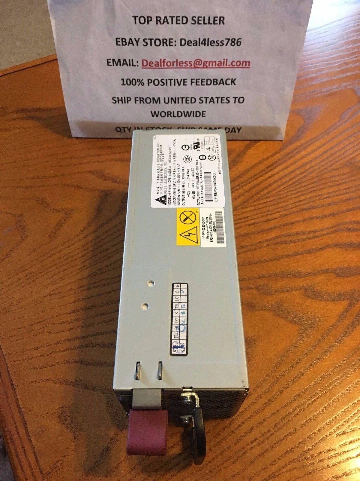 HP 432479-001//432055-001//DPS-430DB A ML310 G5 POWER SUPPLY HS
