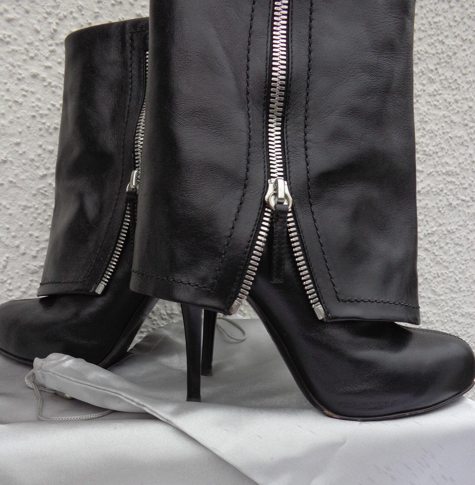 Sexy GUISEPPE ZANOTTI Ankle Boots Stiletto Heels Stiefeletten Plateau Gr. 37,5
