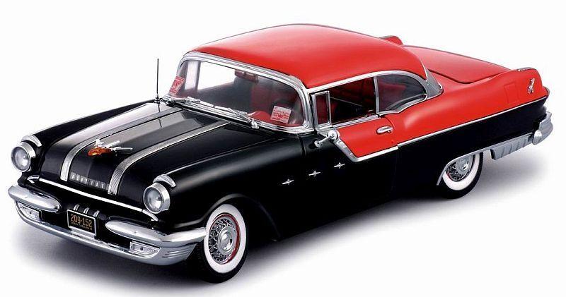 1955 Pontiac Star jefe nero W rosso Top 1 18 SUNSTAR 5042