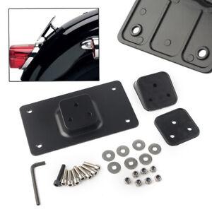 Motor-Laydown-Tilt-License-Plate-Frame-Mount-For-Harley-Sportster-Dyna-Softail
