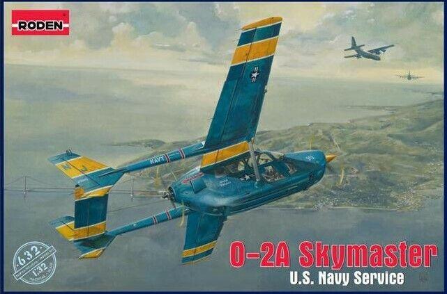 Roden 632 - O-2A Skymaster U.S. Navy Service - 1 32 scale model kit 283 mm