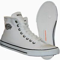 Harley-davidson Women's High Top Flora White Sneaker D83504