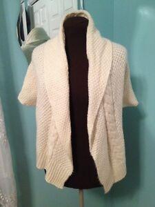Gap Kids Winter White Sweater Coat Shrug Wrap Girls XL (12/14) | eBay