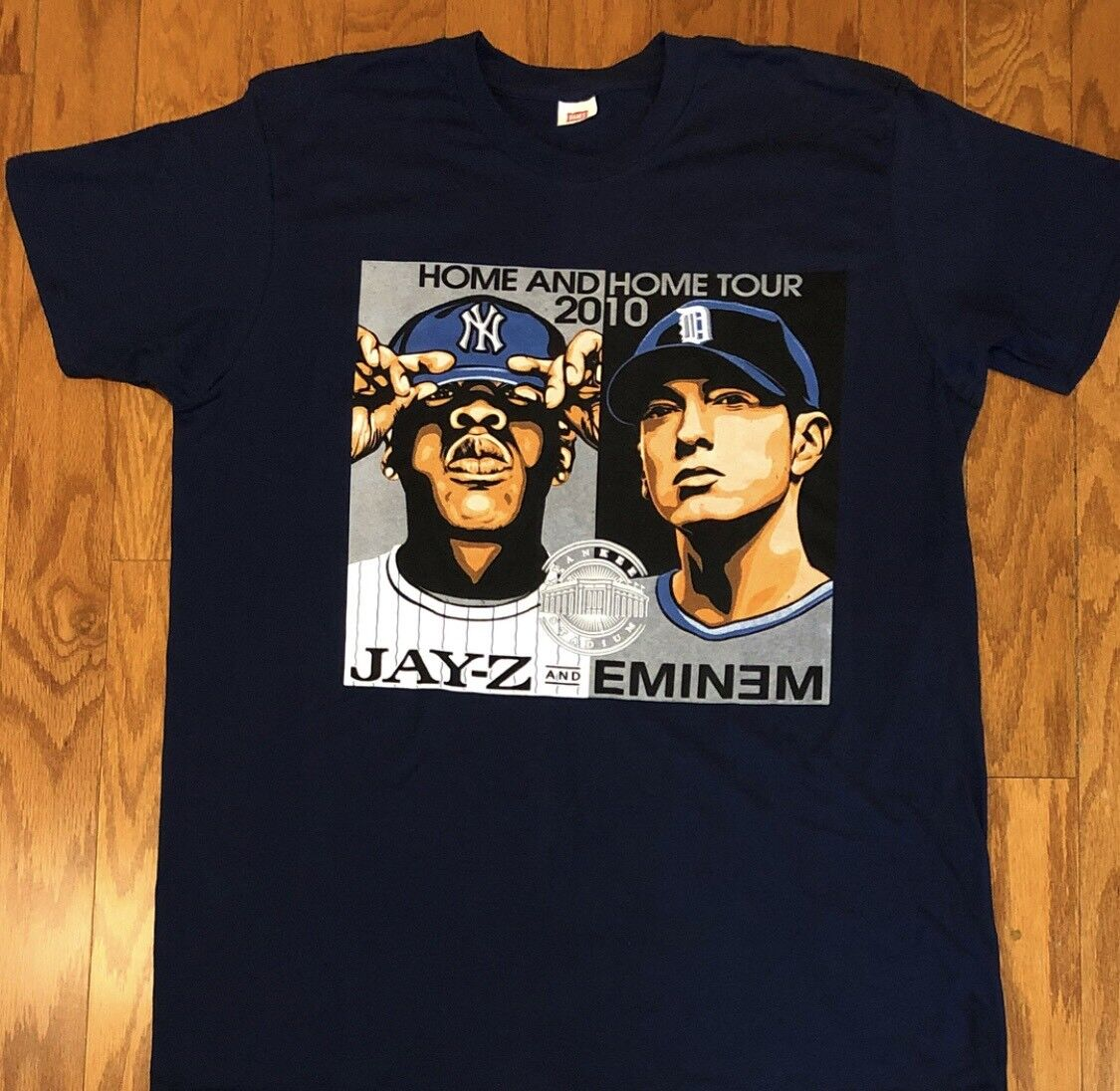 RARE Vintage 2010 Jay-Z & Eminem Home and Home Tour T-Shirt sz L
