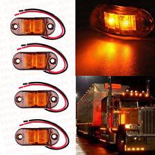 8x Amber LED Side Marker Light Indicator Truck Car Van Bus Trailers Lamp 12V 24V