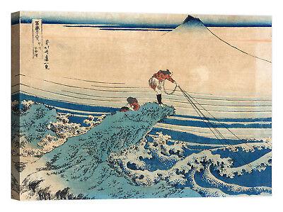 Katsushika Hokusai Fine Wind Stampa su tela Canvas effetto dipinto