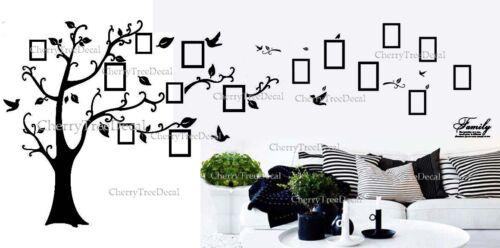 7x cadres photo oiseaux arbre autocollants muraux famille art decal home decor amovible