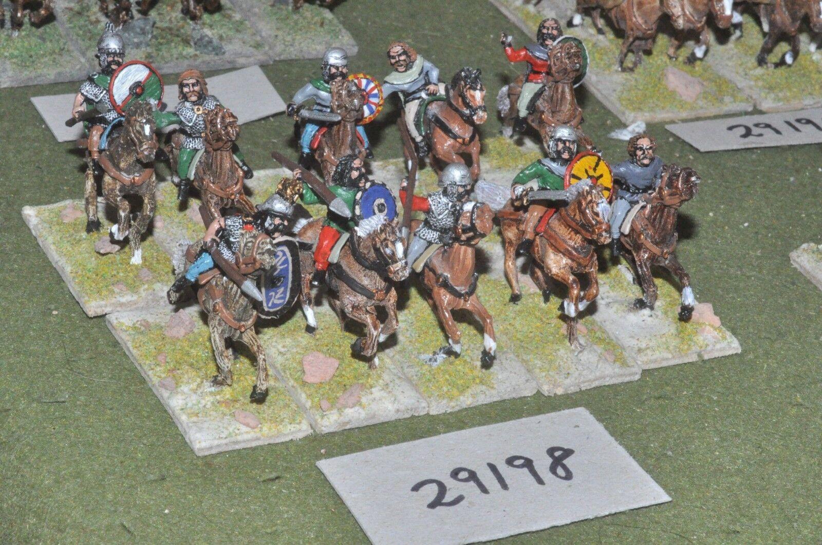 25mm época Romana galos-Heavy 10 figuras-CAV (29198)
