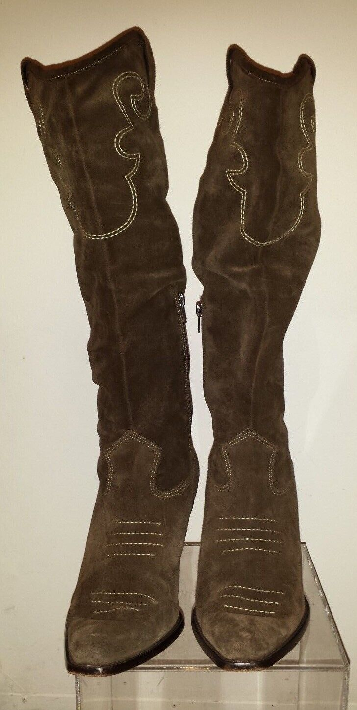 Beautiful  Via Spiga Brown Suede Cowboy Western Boots Size Size Size 10M made in Brazil 6687b5