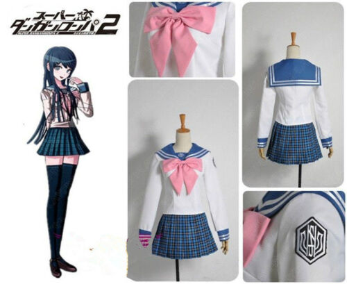 Anime Danganronpa Dangan-Ronpa Sayaka Maizono Great Dress Cosplay Costume #S