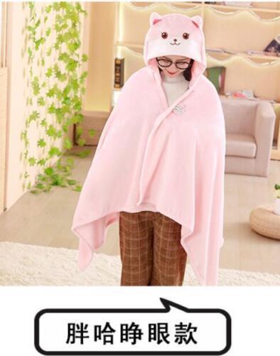 plush toy funny expressions shiba Akita dog soft hooded cloak nap blanket shawl