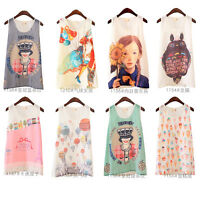 5 Styles Womens Lady Chiffon Printed Vest Tank Top Sleeveless T-Shirt Blouse