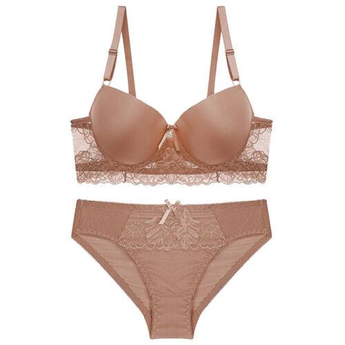 UK Women Underwear Set Padded Extreme Push Up Bras And Panty Set Lingerie AA ABC