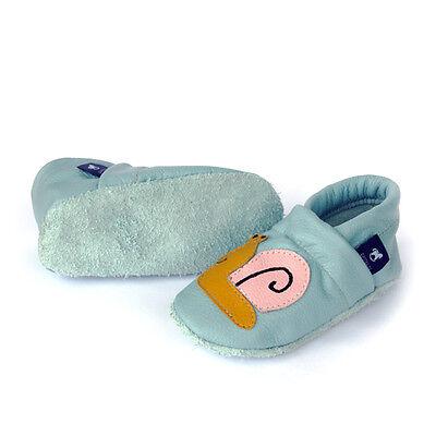Pantau Leder Baby Krabbelschuhe, Kinder Lederpuschen Lauflernschuhe mit Schnecke