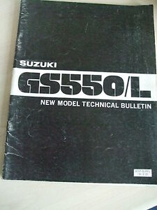 SUZUKI-GS500-L-NEW-MODEL-TECHNICAL-BULLETIN-MANUAL-1980