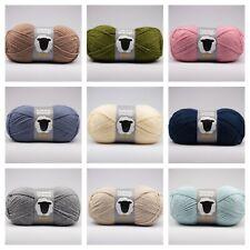 Happy Sheep Aran Acrylic Knitting Yarn / Crochet Wool 100g - Choice of Shades
