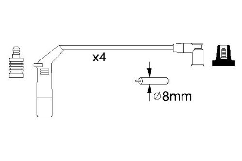 Electro spark ignition lead set allumage pièce de rechange compatible ford ka 1.3i