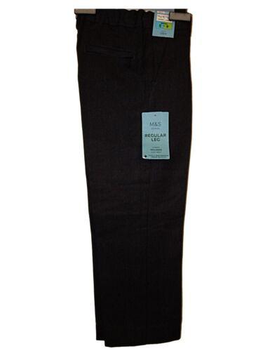 """anni fino a 36/"""" S /& L Leg T5 NUOVO ragazzo Ex M /& S Ultimate Scuola Grigio Pantaloni 2-16"""