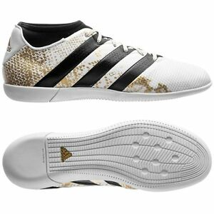 c4114fd83e2 adidas Ace 16.3 Primemesh IN Indoor 2016 Soccer Shoes White   Gold ...