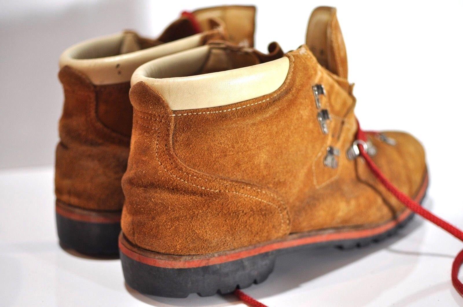 Vintage suelas Vibram botas de cuero para hombre M