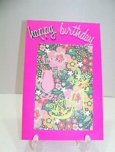 Image Is Loading Birthday Card With Fancy Shoe And Drink