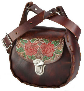 Stagecoach-Rose-Leather-Shoulder-Bag-Crossbody-Purse-Western-Lace-Roses