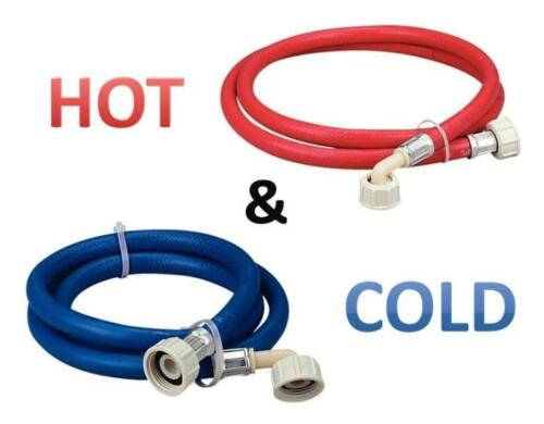 WASHING MACHINE FILL HOSES EXTRA LONG HOT /& COLD 2.5m