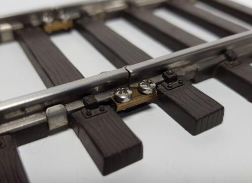 NEU 10 Schienenverbinder für  das Spur 1 Gleis mit Edelstahlschrauben