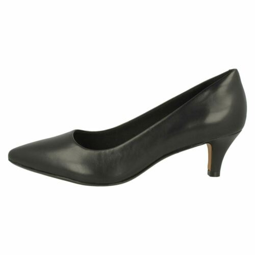CLARKS Linvale Jerica Ladies Classic Leather Court Shoe