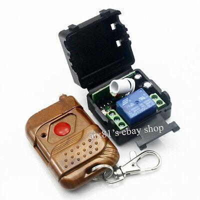 DC 12V 10A 1CH Wireless RF Remote Control Switch Self-locking Mutual Lock 315MHZ