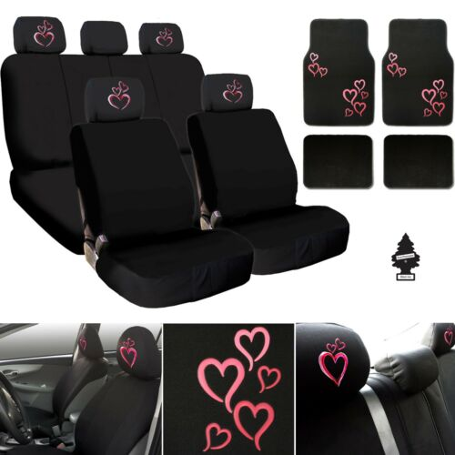 For Hyundai New Heart Car Truck SUV Seat Covers Headrest Floor Mats Full Set