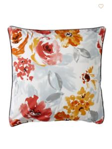 Anne de Solene of Paris Euro Canelle Floral Sham Delices 100% Cotton 26  x 26