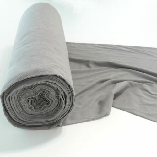 50cm Bündchenstoff Schlauchware Jersey Baumwolle Bekleidung Meterware hell grau