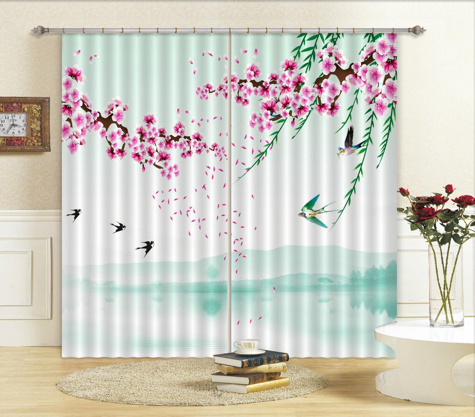 3d Coloreeeee pesca fioritura 68 blocco foto sipario pressione sipario tende tessuto finestra de