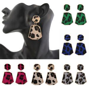 New-Women-Leopard-Geometric-Drop-Dangle-Earrings-Jewelry-Accessories-JP