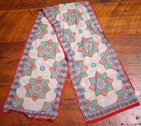 Vintage OSCAR DE LA RENTA 100% Silk Floral Rose Japan Dress SCARF